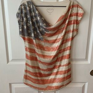 Stars and Stripe Sequined top